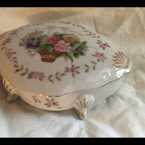 Antique Bristol Garden Porcelain Trinket Box Excel